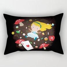 Alice Falling Down the Rabbit Hole Rectangular Pillow