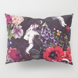 Flowers and Astronauts Pillow Sham