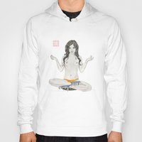 converse Hoodies featuring Converse Buddha by Bryan James