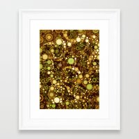 solid color Framed Art Prints featuring :: Solid Gold :: by :: GaleStorm Artworks ::