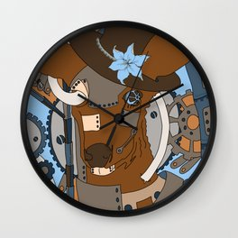 Steam Punk Deer Wall Clock