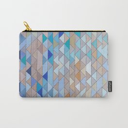Triangle Pattern no.1 Blues and Browns Carry-All Pouch