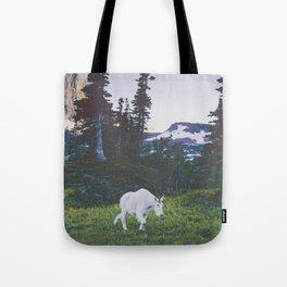Twilight Mountain Goat Tote Bag