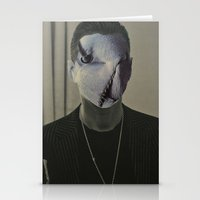 depeche mode Stationery Cards featuring Gahan ,  the  Depeche  Monster   by SZILVIO KOLLÁZS