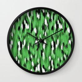 Green Leopard Pattern Wall Clock