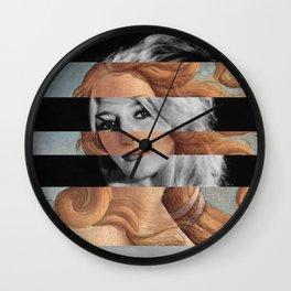 Botticelli's Venus & Brigitte Bardot Wall Clock