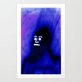 Bearded Gorilla Art Print
