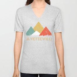 Retro City of Fayetteville Mountain Shirt Unisex V-Neck