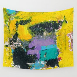 Whisper Yellow Abstract Wall Tapestry