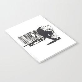 Banksy Animal Rights Artwork, Jaguar Tiger Barcode Prints, Posters, Bags, Tshirts, Men, Women, Youth Notebook