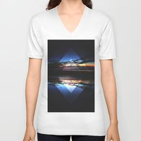 diamonds V-neck T-shirts featuring Diamonds by Fostersean