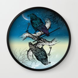 Raven's Key Night+Day Wall Clock
