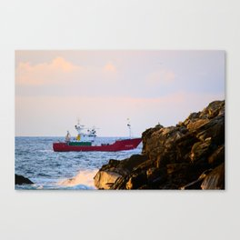 Fisher boat. Canvas Print