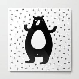 Winter Bear Metal Print