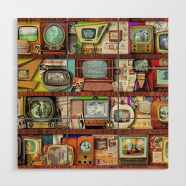 The Golden Age of Television Wood Wall Art