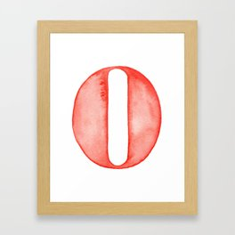 Zero Framed Art Print