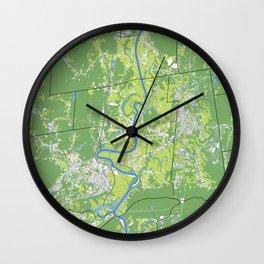 Pioneer Valley map Wall Clock