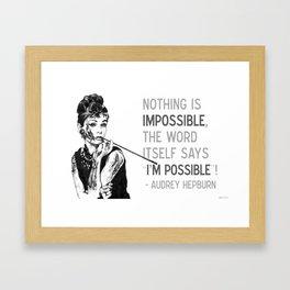 Forever Possible. Framed Art Print
