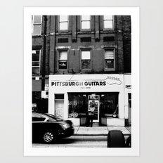 Pittsburgh Guitars Art Print