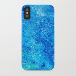 Deep Swimming Blue #buyart #abstract #acrylicart #swimming iPhone Case