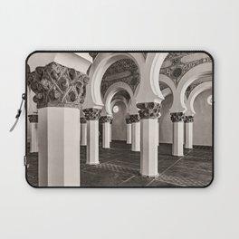The Historic Arches in the Synagogue of Santa María la Blanca, Toledo Spain (3) Laptop Sleeve