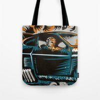mad max Tote Bags featuring Mad Max by Francesco Dibattista