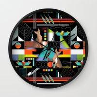 predator Wall Clocks featuring Predator by Vannina