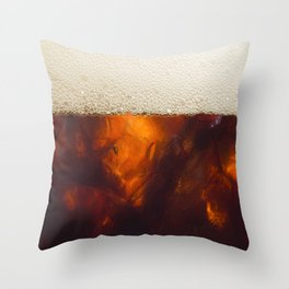 Soda In Glass Throw Pillow
