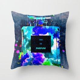 Perfume Dark Grunge Throw Pillow