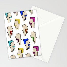 Tetris Facial Hair Stationery Cards