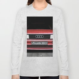 FRONT VIEW OF THE CAR IN RED IN A DEEP COMPOSITION Long Sleeve T-shirt