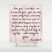 notebook Shower Curtains featuring Notebook by courtneeeee