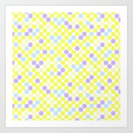 Fun summer Yellow pattern . Art Print