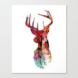 Deer Silhouette (in color) Canvas Print