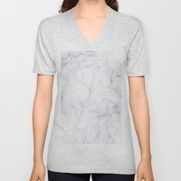 Luxury White Marble Unisex V-Neck
