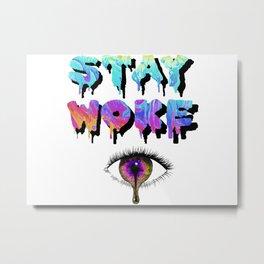 Stay Woke Pastel Metal Print