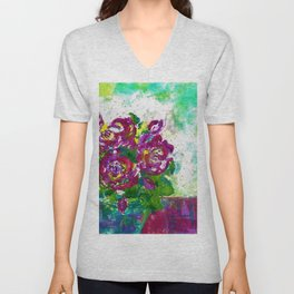 Flower Bouquet Unisex V-Neck