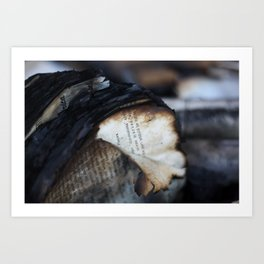Burned and Blackened Pages Art Print