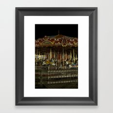 The Rides, The Carousel Framed Art Print