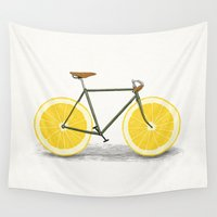 bicycles Wall Tapestries featuring Zest by Florent Bodart / Speakerine