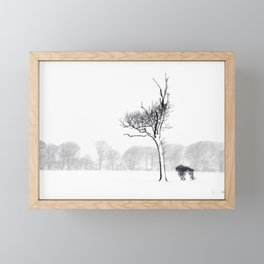 Winter Blizzard Framed Mini Art Print
