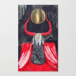 A Noite é uma Vaca Preta (Night is a Black Cow) Canvas Print