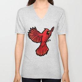 Cardinal Unisex V-Neck