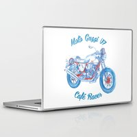 moto Laptop & iPad Skins featuring moto guzzi - cafe racer by dareba