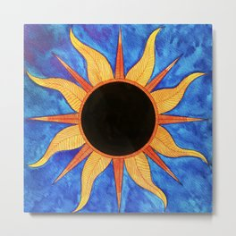 Eclipse Stylized Metal Print