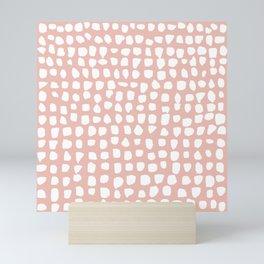 Dots / Pink Mini Art Print