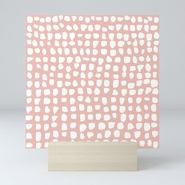 Dots / Pink Mini Art Print