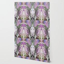 Psychedelic Positive Notes Lavender Wallpaper
