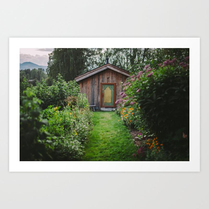 Norwegian Garden House Art Print By Kelseystevensphotography Society6