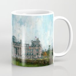 Reichstag, Berlin - abstract landmark drawing / painting /  impressionism style Illustration  / Coffee Mug